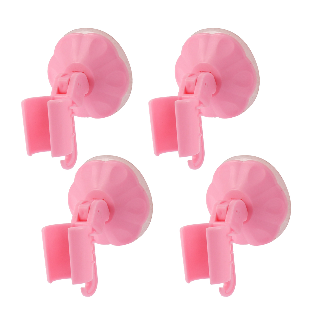 Unique Bargains 4 PCS Bathroom Wall Mounted Suction Cup Shower Head Holder Bracket