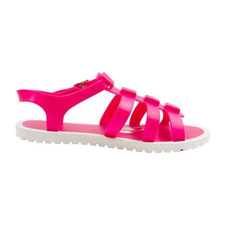 Sara Z Girls Jelly Strap Fisherman Sandals Fuchsia Size 13/1 (2 Fisherman Sandal)