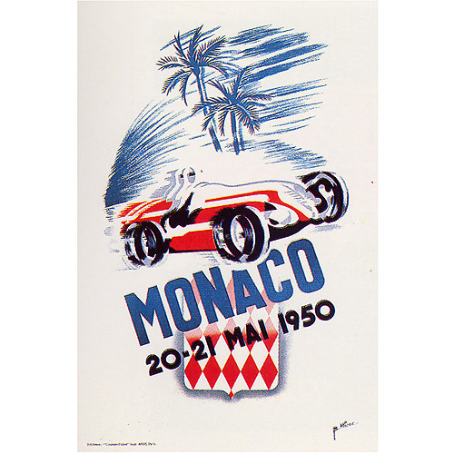 "Trademark Fine Art ""Monaco 1950"" Canvas Art by George Ham, 18x24"