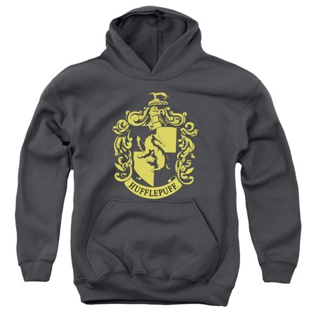 Harry Potter Hufflepuff Crest Big Boys Youth Pullover Hoodie