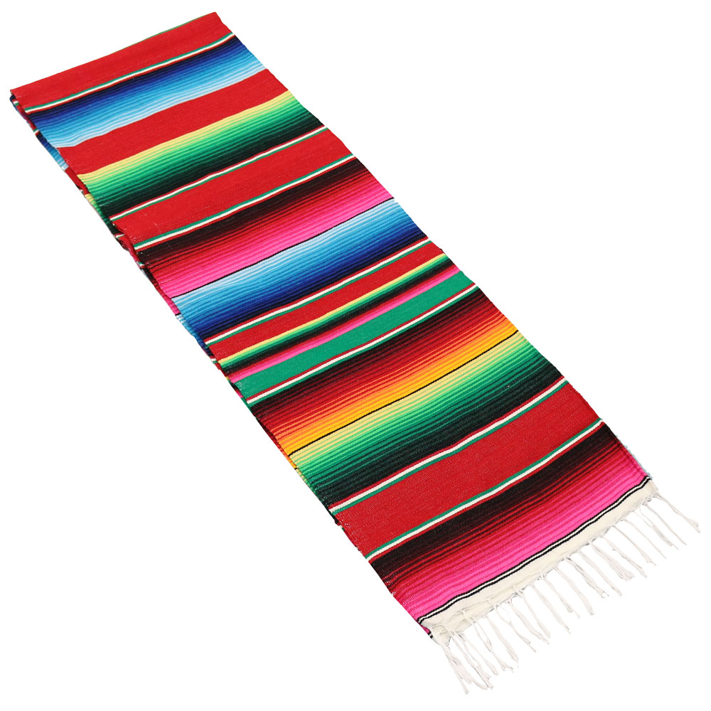 Sunnydaze Extra Large Multi Colored Mexican Serape Hammock Blanket, 62 Inch Wide x 83 Inch Long