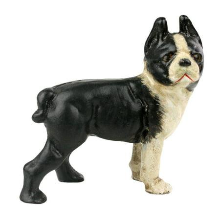 Terrier Metal Sculpture (Tyson the Boston Terrier Cast Iron Sculpture)