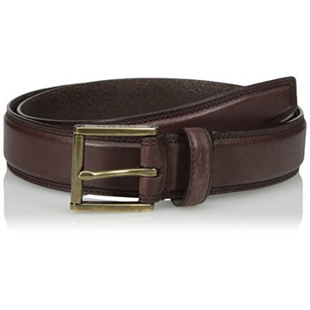 Cole Haan Men's Cole Haan 32mm Double Stitched Pressed Edge Belt, Chestnut Antique Brass, 32 ()