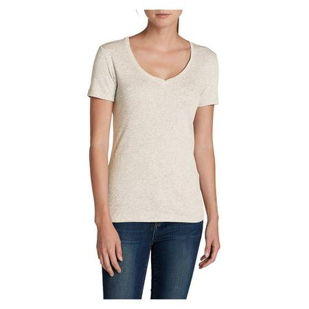 Eddie Bauer Women's Favorite Short-Sleeve V-Neck T-Shirt Eddie Bauer Short Sleeve Shirt