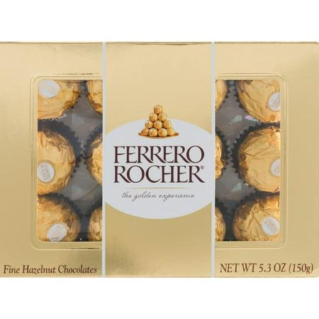 - Ferrero Rocher Fine Hazelnut Chocolate 5.30 oz