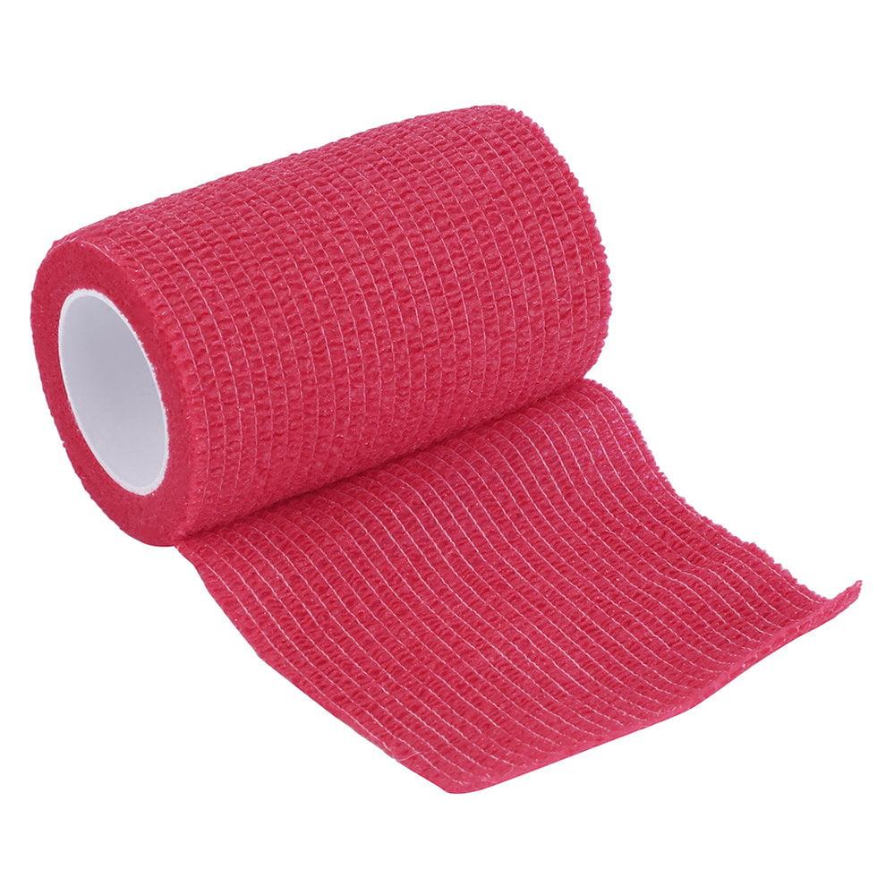 Men Women Exercise Gym Bodybuild Workout Self-Adhering Bandage Wraps Elastic Adhesive First Aid Tape4.5m x 7.5cm