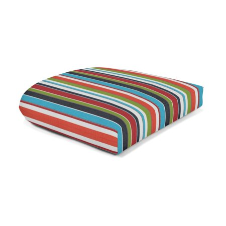 Sunbrella Wicker Seat Pad - Carousel - Sunbrella Fabric Seat