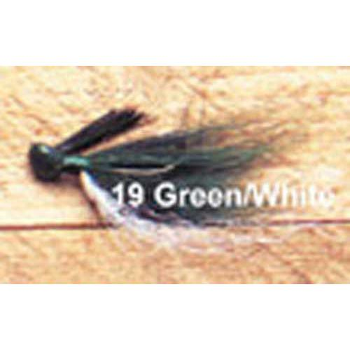 Arkie 1 4 Bucktail 6 cd Green White by