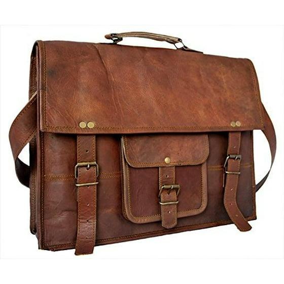 e4d5d3819843 tuzech leather bag vintage cross body messenger courier satchel bag gift  men women ~ business work briefcase carry laptop computer book fits laptop  up ...