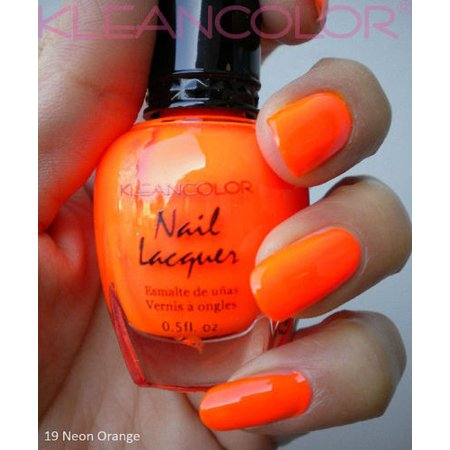 Kleancolor NEON ORANGE Nail Polish Lacquer Full