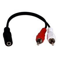 QVS 3.5mm Mini-Stereo Female to Dual RCA Male Speaker Y-Adaptor
