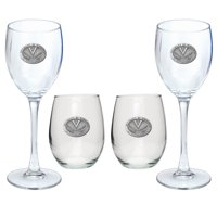 University of Virginia Cavaliers Goblet Set Stemmed and Stemless Wine Set