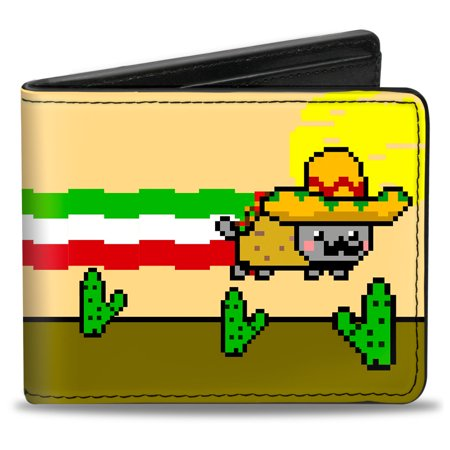 Nyan Cat Youtube Video Meme Mexican Taco Cat Bi Fold Wallet