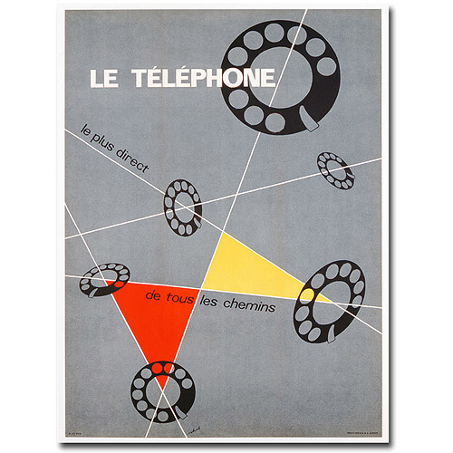 "Trademark Art ""Le Telephone, 1937"" Canvas Wall Art by Choi"