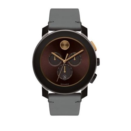 Men's 3600445 'Bold' Chronograph Brown Leather - Classic Chronograph Black Leather