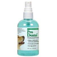 ProDental Dog Oral Health Dental Spray 4 oz Bottle Easy Use For Fresh Pet Breath (One Bottle)