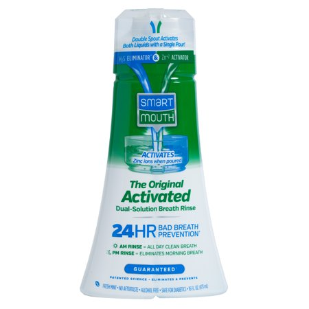 SmartMouth Original Clean Mint Activated Mouthwash, 16 fl (Smart Mouthwash)