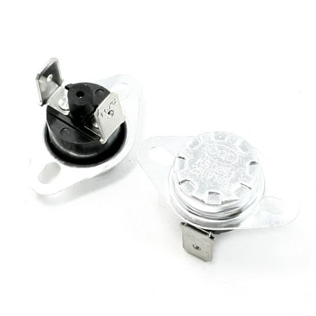 Unique Bargains 250VAC/10A 110C N/C Soldering Foot Manual Reset Temperature Control Switch 2 Pcs Temperature Control Switch
