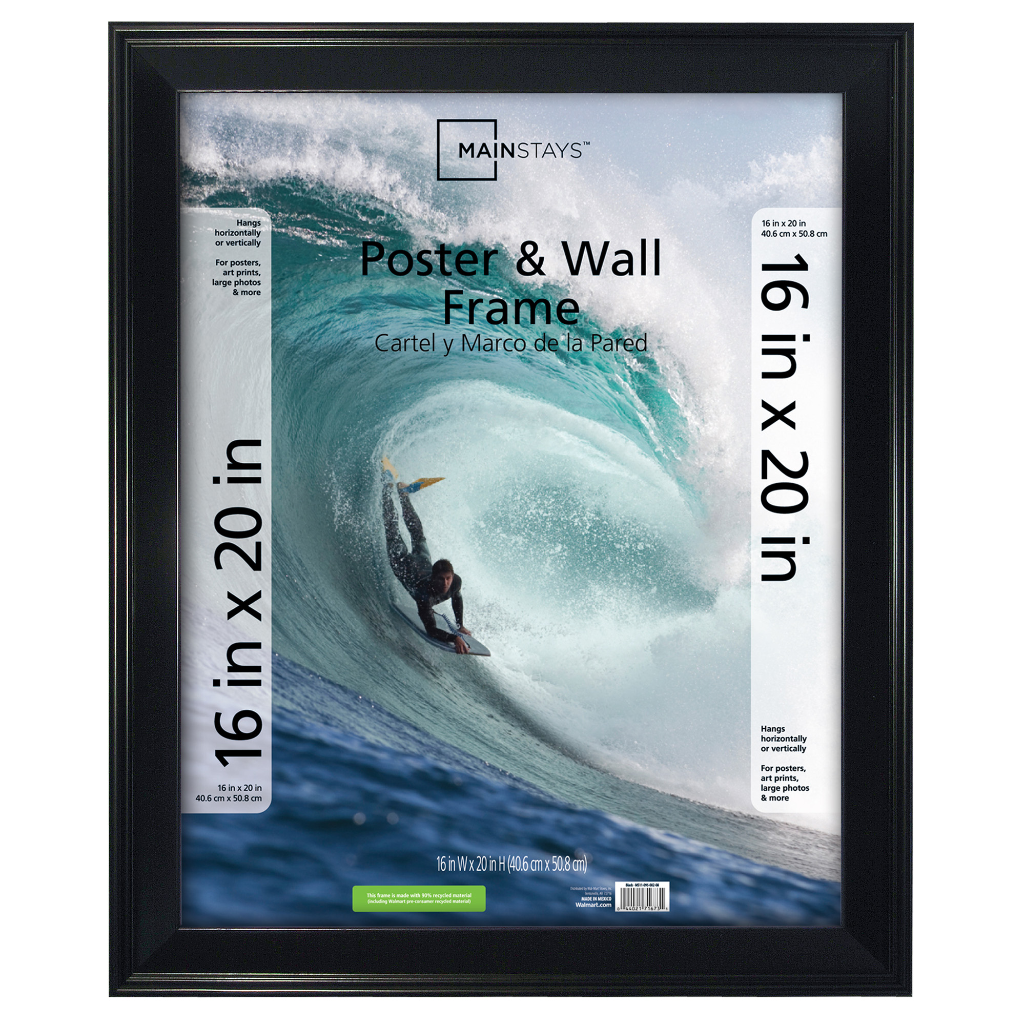 Mainstays 16x20 Casual Poster and Picture Frame, Black by MCS Industries, Inc.