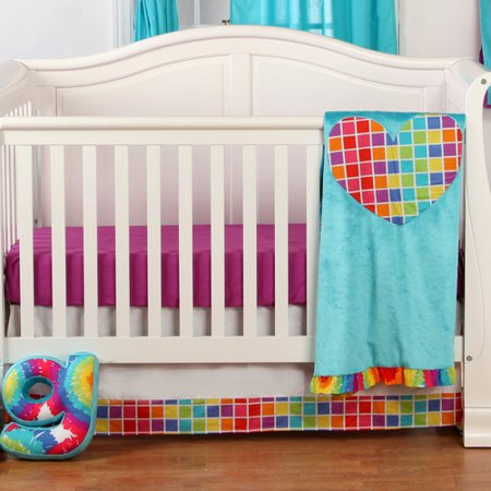 One Grace Place Terrific Tie Dye Infant 3 Piece Crib Bedding Set