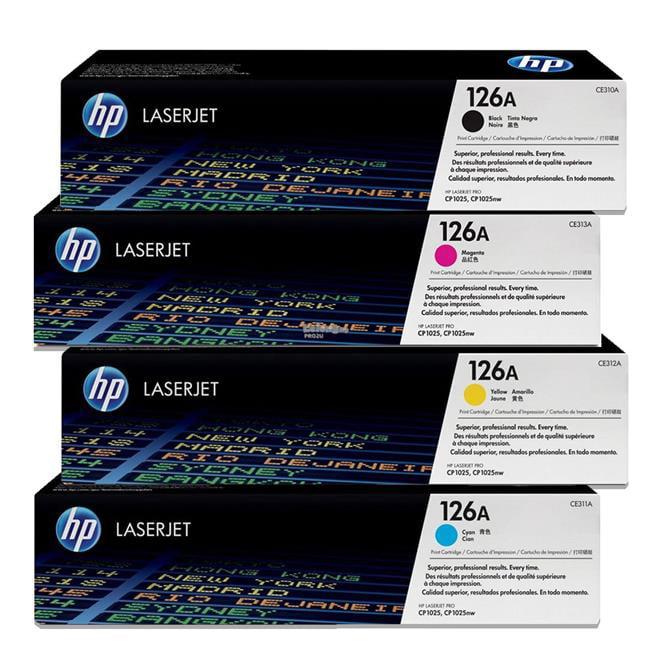 HP 126A CE310A CE311A CE312A CE313A 4-Color Toner Set
