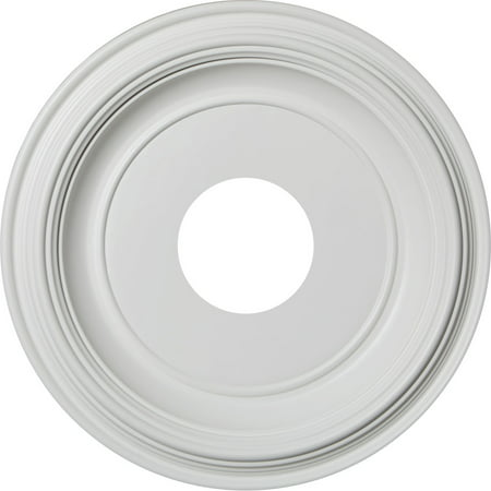"13""OD x 3 1/2""ID x 1 1/4""P Traditional Thermoformed PVC Ceiling Medallion (Fits Canopies up to 7 1/2"")"