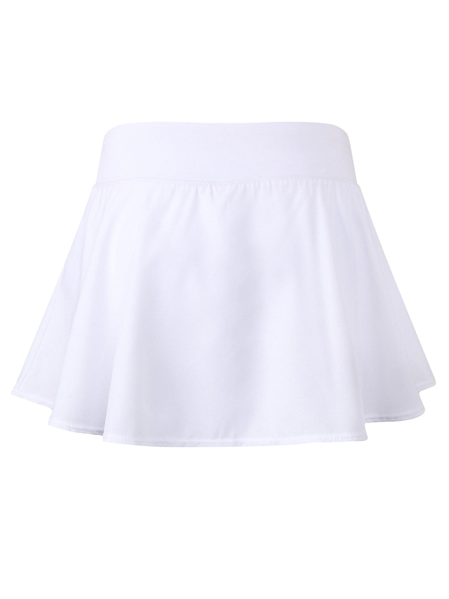 Plus Size Ladies Women Girls Running Tennis Skirts Pleated Golf Skort  Sports Yoga Shorts Short Skirt Solid High Waist Active Wear Gym Fitness  Jogging Workout White L - Walmart.com - Walmart.com