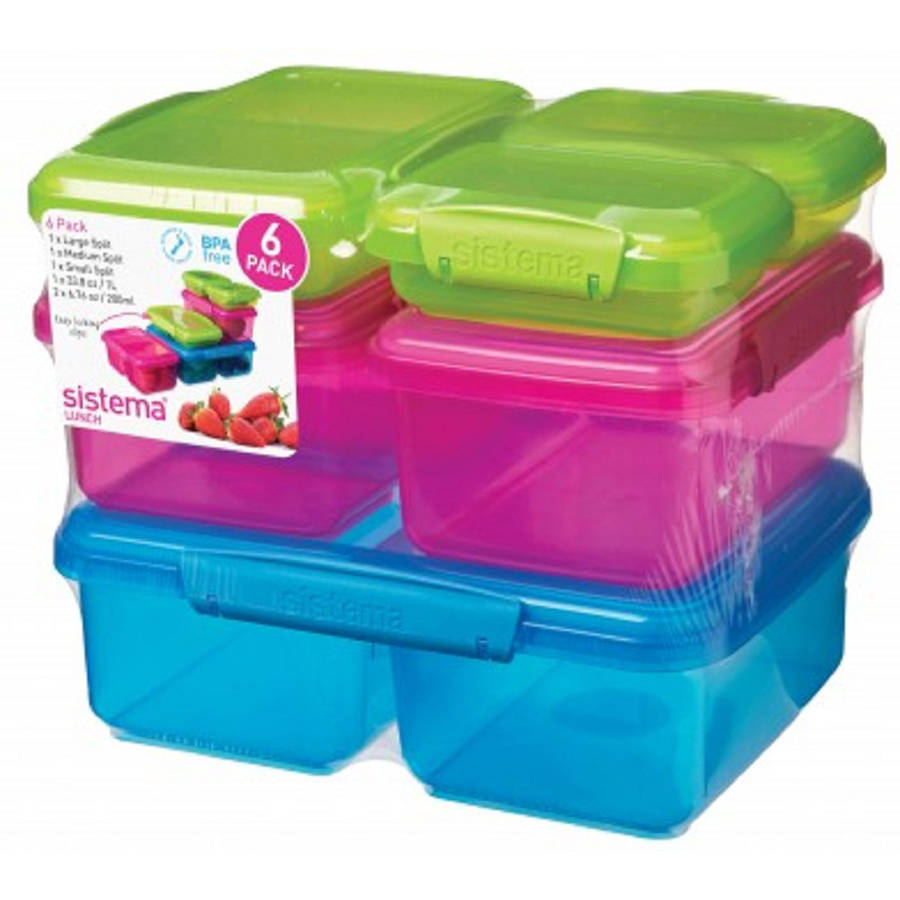 Sistema KLIP IT Container Set, Multi-Color, 6 Pack