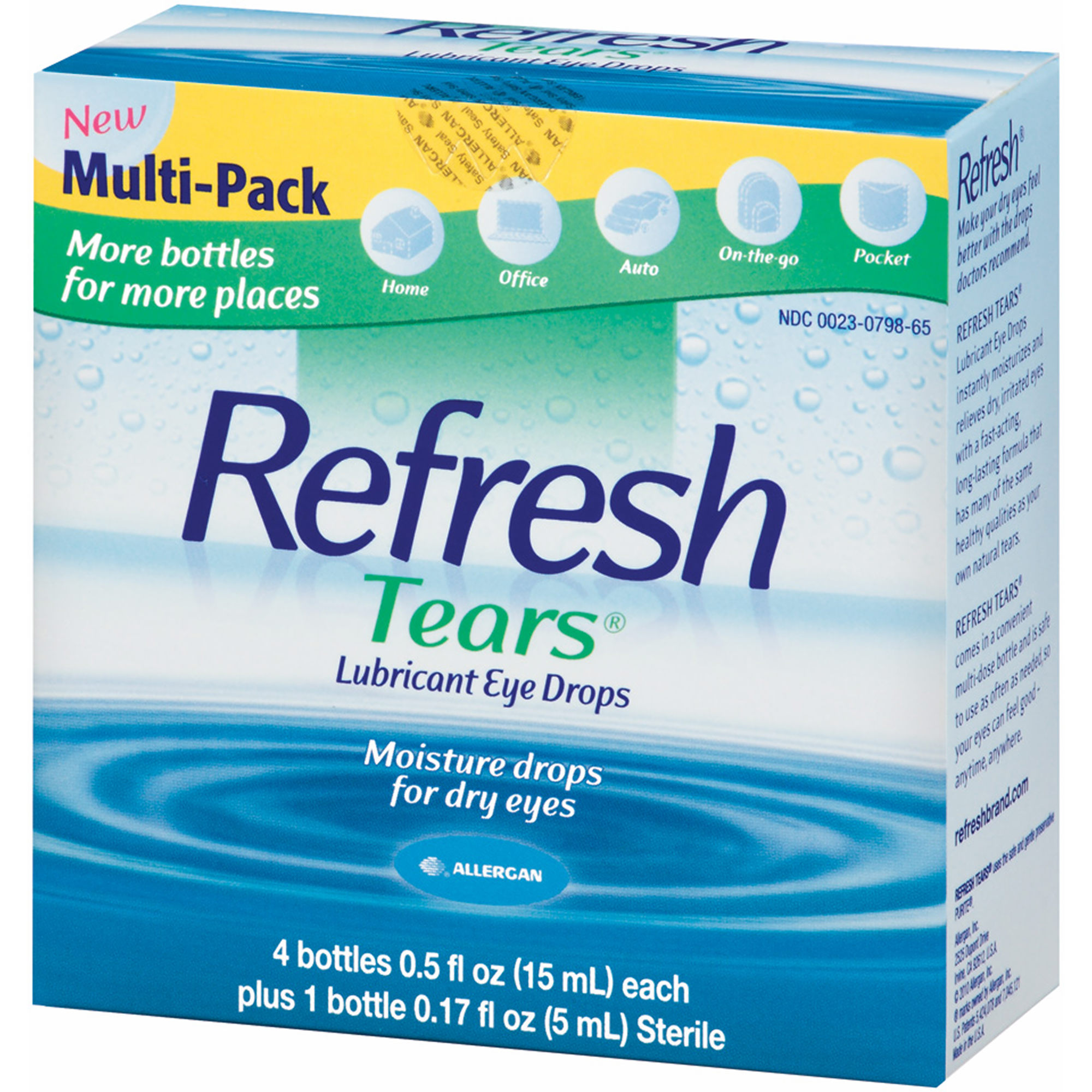 Product of Refresh Tears Lubricant Eye Drops Multipack, 4 ct./0.5 fl. oz. with Sterile Drops Bottle, 0.17 oz. - [Bulk Savings]
