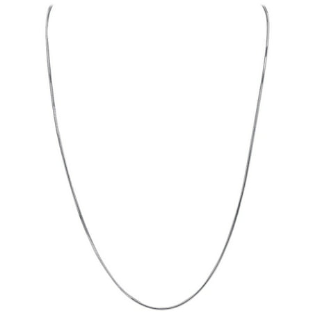 Gem Avenue Italian 925 Sterling Silver Diamond-Cut Snake Chain Solid 1mm Necklace Made in Italy ()