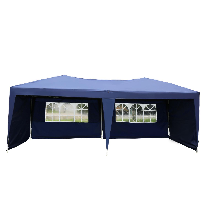 Kinbor 10'x20'Canopy Wedding Party Tent Heavy Duty Outdoor Gazebo Blue