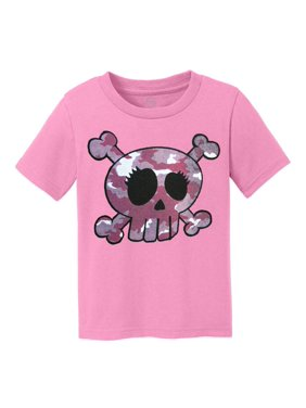 Pink Camo Skull Kids Cotton T-Shirt