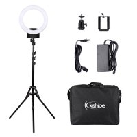 "LED Ring Light with Stand, 12"" 240PCS LED Circle Lighting, YouTube Ring Light w/ Tripod Stand, Cell Phone Holder & Carrying Bag for Portrait, Makeup, Vlog, Live Stream, Video Shooing, Black, Q4122"