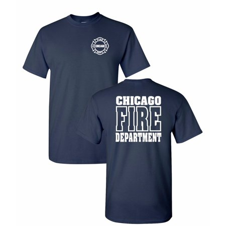 Chicago Fire Tshirts (Chicago Fire Department 2-Sided Job T-Shirt 10837)