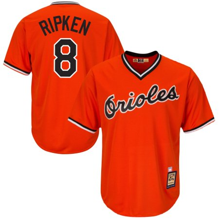 8ac7187e5 Cal Ripken Jr Baltimore Orioles Majestic Cool Base Cooperstown Collection  Player Jersey - Orange - Walmart.com