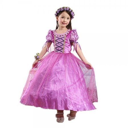DreamHigh Girls Halloween Princess Rapunzel Costume Dress Size 3-4 Years
