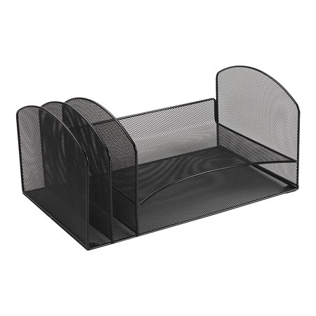 Staples Black Wire Mesh Letter Tray Sorter 828567 (Wire Mesh Cable Tray)