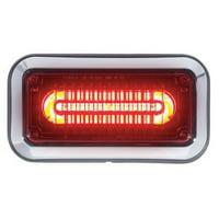 CODE 3 3712RBZ-75 Perimeter Light,LED,Red,Surface,Rect,9 L