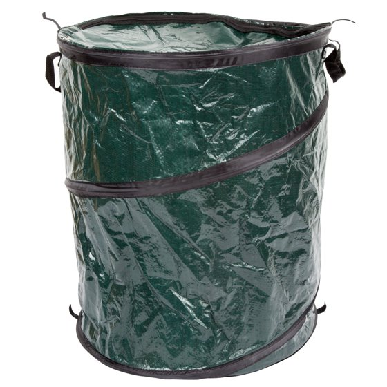 outdoors pop up 33 gallon camping garbage can trash bin by wakeman. Black Bedroom Furniture Sets. Home Design Ideas