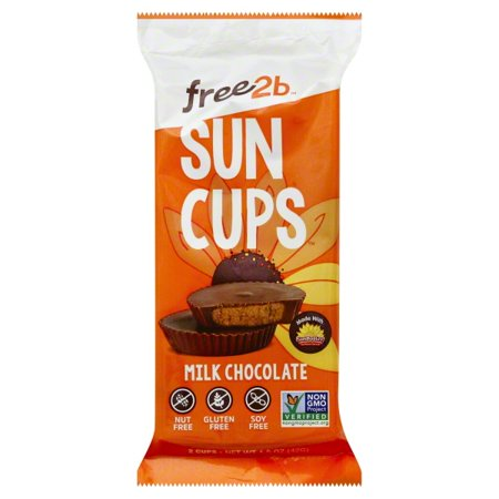 free2b Sun Cups Rice Chocolate Filled With Sunflower Seed Butter, 1.5 OZ