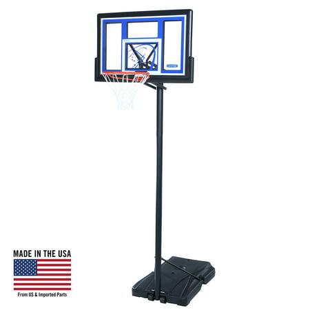 Lifetime Shatterproof Portable Height Adjustable Basketball System ... 1be804186a