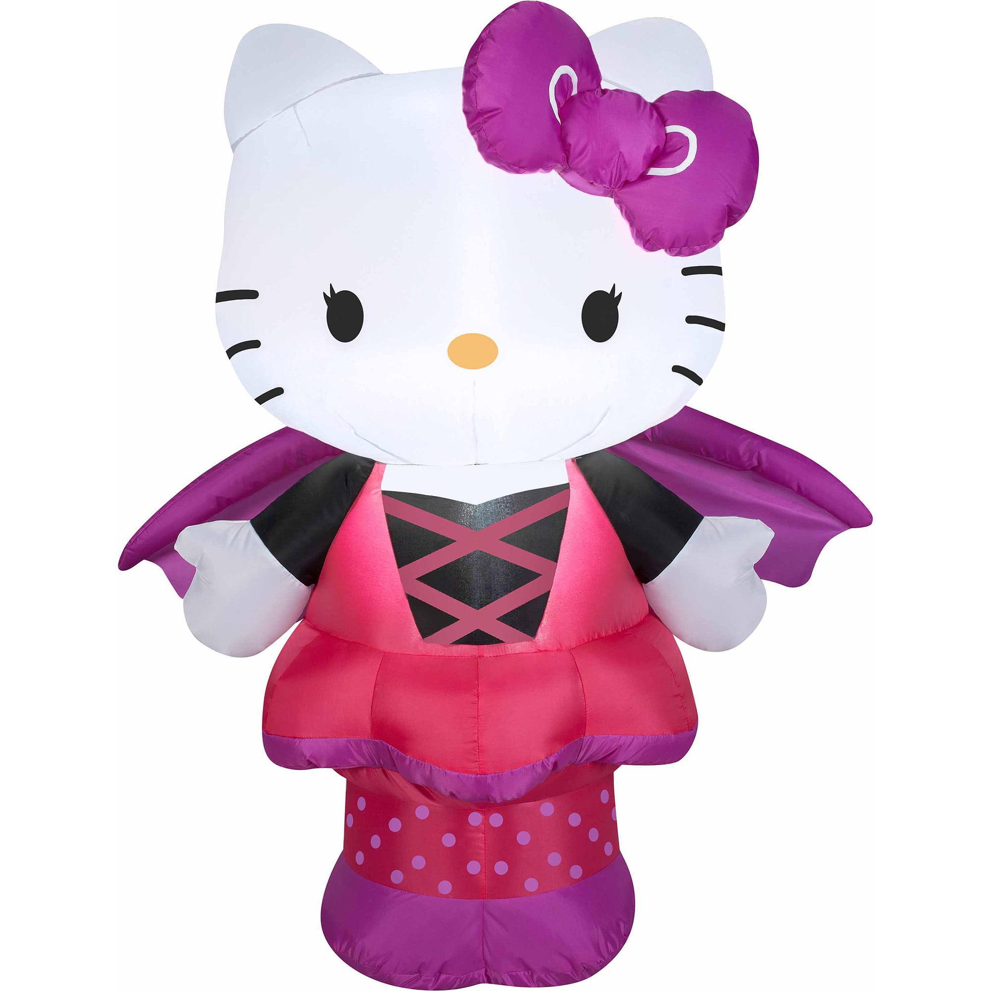 3' Airblown Inflatables Sanrio Hello Kitty as Bat Halloween Decoration