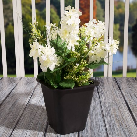 Flower Planter Pot With Sturdy Lip For Transport- Modern Design Portable Planter By Pure Garden