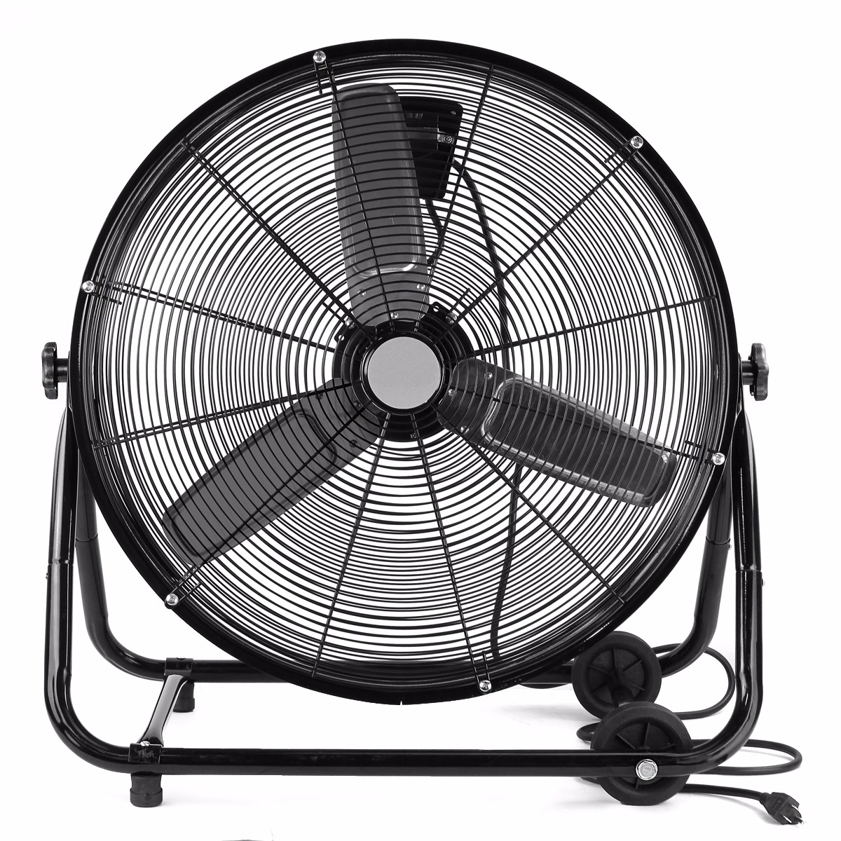 "XtremepowerUS 24"" Fan Rolling Drum Floor Shop Commercial Warehouse"