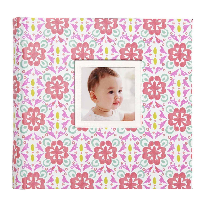 Pretty Patterns Pink And Teal Slim Bound Photo Journal Album 4x6 160