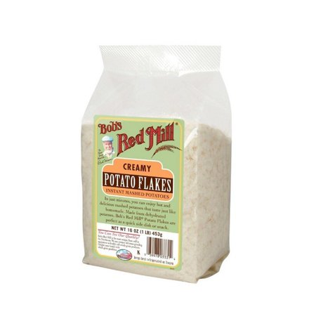 Bob's Red Mill Instant Mashed Potatoes Creamy Potato Flakes - 16 Oz - Pack of 4 Creamy Garlic Mashed Potatoes