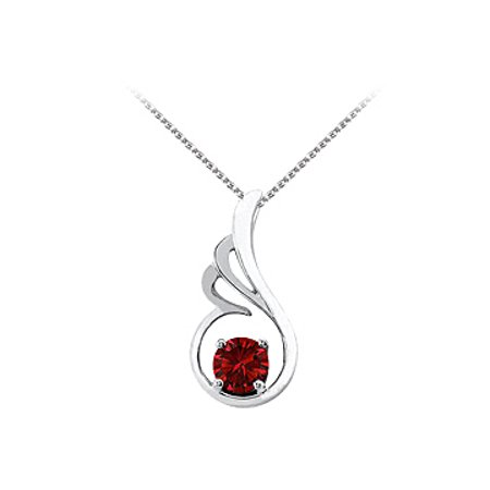 July Birthstone Ruby Pendant In 925 Sterling Silver With Free Chain Fab Price Cool Design