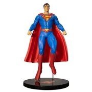 """Superman Action Figure Toy with Base Stand   Authentic Collectible Classic Movie Figurine   6.5"""" Tall Flying with Cape"""