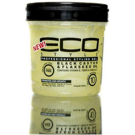 ECO Styler Black Castor & Flaxseed Oil Gel 8 oz
