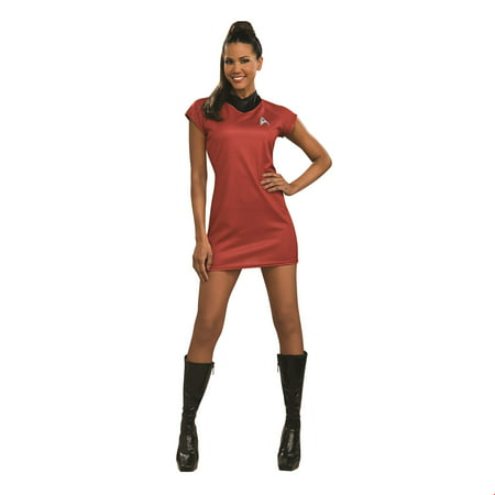 Star Trek Womens Movie Deluxe Red Dress Adult Halloween Costume](Movie Star Costume)